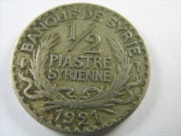 SYRIA 1/2 HALF PIASTRE 1921  LOT 15   NUM 8 - Syrie