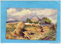 -KOSSOVO-Le Tombeau Du Sultan Mourate- Champs En Fenaisons - Aquarelle De Chvrakitch--1918 - Kosovo