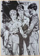 Litho Illustrateur Pierre Joubert Garcon Garcons Scouts Scout Scoutisme Signe De Piste Bracelet Vermeil Top - Scoutismo