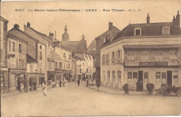 70 - GRAY - Haute-Saône - Rue Thiers - Café Du Nord - Francia