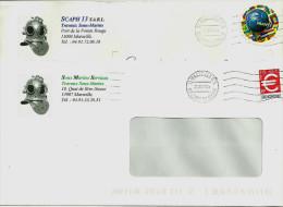 2 Enveloppes Avec Superbe En-tête De Scaphandriers - Sin Clasificación