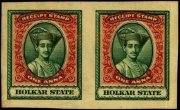 INDIAN FEUDATORY & CONVENTION STATES-HOLKAR STATE-IMPERF PLATE PROOF-1 ANNA-INDIA-MNH (A1-431)