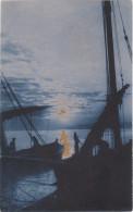 Carte Postale Ancienne Fantaisie - Paysage Marin - Bateaux - Otros