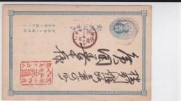 JAPAN - RARE CARTE ENTIER POSTAL Avec REPIQUAGE Au DOS - Postcards
