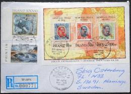 Iceland 1993 Registered Letter To Sweden 9-10-1993 ( Lot 3076 ) - 1944-... Republique