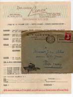 1937 - ENVELOPPE COMMERCIALE ILLUSTREE / DECOREE (+ CORRESPONDANCE) De MONTPELLIER (HERAULT) - France