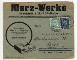 1925 - ENVELOPPE COMMERCIALE ILLUSTREE / DECOREE De FRANKFURT A. M. RÖDELHEIM - Covers & Documents