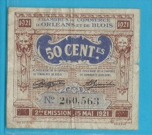 50 Centimes Chambre De Commerce D' Orléans Et De Blois - 1921 - Chamber Of Commerce
