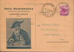 £15 1965 DA CASTELDARIO CASTEL D'ARIO X ROMA DAL PERIODICO ITALIA NUMISMATICA - 1961-70: Marcophilia