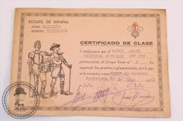 Vintage 1966 Boy Scouts Of Spain, Cataluña, Barcelona Certificate - Movimiento Scout