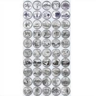 Quarti Di Dollaro Lotto 1999-2008 50 Monete PHILADELPHIA - Serie Stati Federali - State Quarters Quarts États Américains - Émissions Fédérales