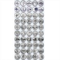 Quarti Di Dollaro Lotto 1999-2008 50 Monete DENVER - Serie Stati Federali - State Quarters Quarts États Américains - Émissions Fédérales
