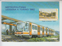 REF25.980  METROPOLITANA LEGGERA A TORINO 1982.TRAM A CAVALLI 1902 - Trasporti