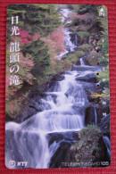 Telefonkarte Asien Japan NTT Landschaft Wasserfall Telephone Card 1990 - Gebirgslandschaften