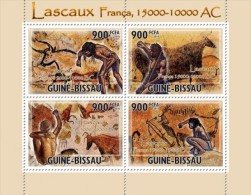 DELUXE IMPERF GUINEA BISSAU CAVE PAINTINGS PREHISTORIC CAVE OF LASCAUX S/S MNH C10 GB10506A - Unclassified