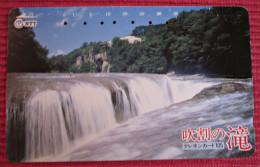 Telefonkarte Asien Japan NTT Landschaft Wasserfall Telephone Card 1989 - Gebirgslandschaften