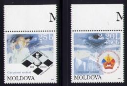 Echecs Serie Neuve Moldavie 1999 Chess Series MNH Moldova - Echecs