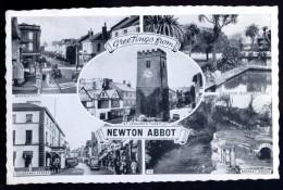 Cpsm Angleterre Devon  Greetings From Newton Abbot     AVR12 - Angleterre