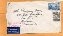 Newfoundland 1942 Cesnored Cover Mailed - 1908-1947