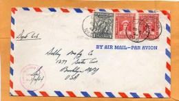 Newfoundland 1944 Censored Cover Mailed To USA - 1908-1947