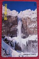 Telefonkarte Asien Japan NTT Landschaft Berge Wasserfall Telephone Card 1990 - Gebirgslandschaften