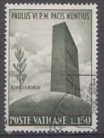 Vatican Mi.nr.:485 Besuch Des Papstes Bei Den Vereinten Nationen 1965 Oblitérés / Used / Gestempeld - Oblitérés