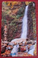 Telefonkarte Asien Japan NTT Landschaft Berge Wasserfall Telephone Card 1991 - Gebirgslandschaften