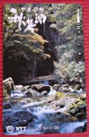 Telefonkarte Asien Japan NTT Landschaft Berge Fluß Telephone Card 1992 - Gebirgslandschaften