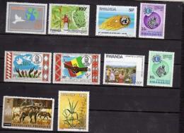 Rwanda 10 Timbres Neufs - Non Classés