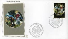 2004 MADONNA DI TIRANO FDC FILAGRANO GOLD - F.D.C.