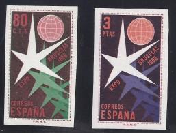 ESPAÑA 1958 - Edifil #1222/23 - MNH ** - 1951-60 Nuevos & Fijasellos
