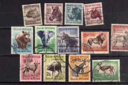 SUD SOUTH AFRICA RSA AFRIQUE 1954 FAUNA ANIMALS  ANIMALI USED USATI - Sud Africa (...-1961)