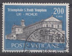 Vatican Mi.nr.:374 Basilika Des Hl.Paulus 1961 Oblitérés / Used / Gestempeld - Oblitérés