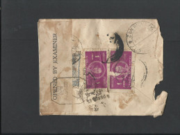 Afghanistan Rare Special Censorship Wax Seal Used Damage Stamps - Afghanistan