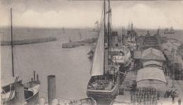 CPA 50 Cherbourg - Entrée Du Port - La Gare Maritime - Cherbourg