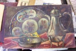 Honoré GIORDAN.huile Sur Isorel .35 X 22 Cm.signée En Bas à Droite.peintre Né En 1906 à St-jean Cap FERRAT. - Huiles
