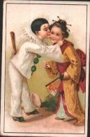 Chromo Chocolat Duroyon, Chicorée - Pierrot Avec Chinoise - éventail - Duroyon & Ramette