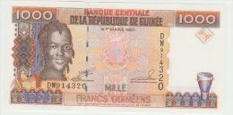 Guinea 1000 Francs 1998 Pick 37 UNC - Guinea
