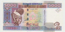 Guinea 5000 Francs 1998 Pick 38 UNC - Guinea