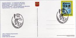 Vaticano 1995 Special Cancel Postage Stamp Mega Event Statue Of Liberty - Esposizioni Filateliche
