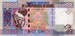 Guinea 5000 Francs 2006 Pick 41 UNC - Guinea