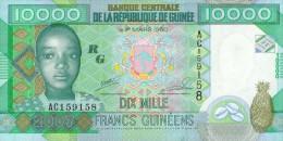 Guinea 10000 Francs 2007 Pick 42 UNC - Guinea