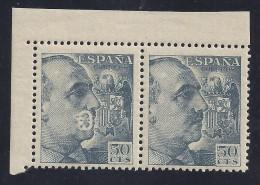 ESPAÑA 1953 - Edifil #1053 - MNH ** - Variedad: Defecto De Impresión En Un Sello - 1951-60 Nuevos & Fijasellos