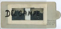 Photo Sur Verre Double- Epineuse -Chars De L´artillerie D´assaut Sur Route- 21 Juin 1918 - Frankrijk