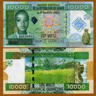 Guinea 10000 Francs 2010 Pick New UNC - Guinée