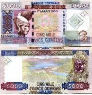Guinea 5000 Francs 2010 Pick New UNC - Guinea