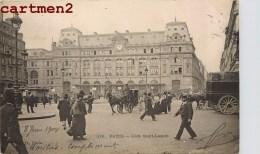PARIS LA GARE SAINT-LAZARE ANIMEE 1900 - District 08