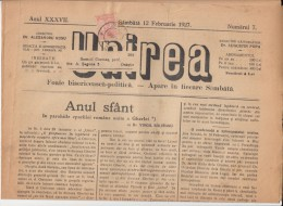 UNIREA NEWSPAPER, CHURCH- POLITIC NEWSPAPER, KING FERDINAND STAMP, 1927, ROMANIA - Zeitungen & Zeitschriften