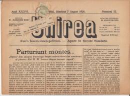 UNIREA NEWSPAPER, CHURCH- POLITIC NEWSPAPER, KING FERDINAND STAMP, 1926, ROMANIA - Revues & Journaux