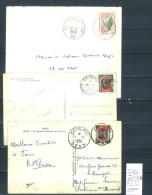 Lettre Algérie Cachet  Entrepots - Alger - Constantine - Oran - 3 Piéces - Other